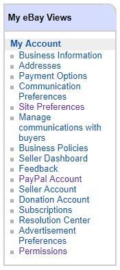 ebay account settings